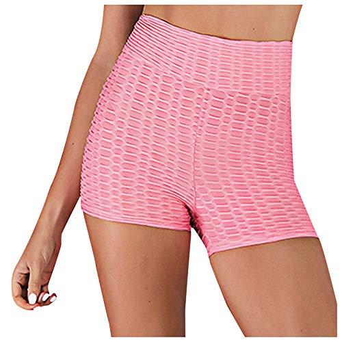 Damen Tights Shorts Sport Kurze Hosen Sportshort Kurz Leggings Laufshorts Fitness Yoga Leggings Sporthosen Hohe Taille mit Bauchkontrolle Short