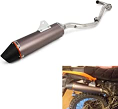 Motorcycle Slip-On Full Exhaust Muffler System For Honda CRF150F CRF230F 2003-2013 - Titanium