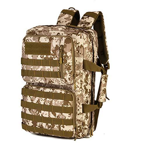 Hombres Táctico Militar Nylon Mochila Zipper Rucksack Portátil Viajes Hombro Cuaderno