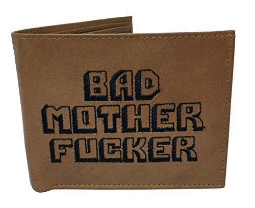 Bad Mother F*cker Leather BROWN EMBROIDERED Wallet
