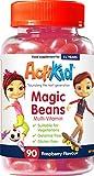 ActiKid Magic Beans Multi-Vitamin 90x Raspberry Flavour, Gelatin free, Children's vitamin, Fortalecimiento del sistema inmunológico