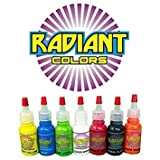 Tattoo Ink Radiant Colors 7 Color 1/2oz Primary Set - Made...
