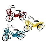 SioHopio Colección De Bicicletas Vintage Escultura Arte Juguete Hecho Mano Modelo Bicicleta Oficina Creativa Accesorios De Escritorio Decoración Coche Niños Juguete Regalo Obra Arte 3 Piezas