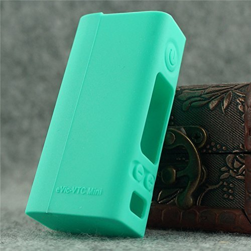 Silicone Case for eVic VTC MINI Sleeve Joyetech 60W Temp Control Box Mod Skin (cyan)