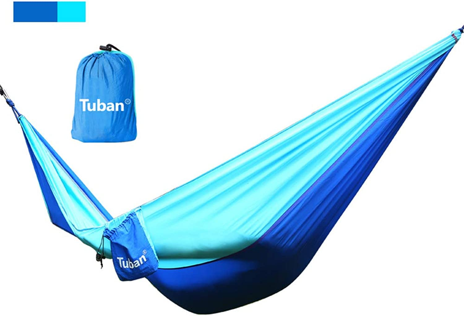Outdoor Double Hammock,Parachute Cloth 300kg LoadBearing Student Indoor Dorm Room Bedroom Swing Mountaineering Leisure Camping Hammock color Optional