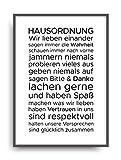ALEMARG Fine Art Kunstdruck HAUSORDNUNG 1 Poster Print