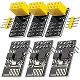 AZDelivery 3 pcs ESP8266-01S ESP-01S Modulo Wifi con adaptador Breadboard compatible con Arduino con E-Book Incluido!