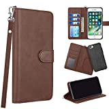 The Infiniti Series Leather Wallet CASE for iPhone 8/7 / 6 Plus - Brown