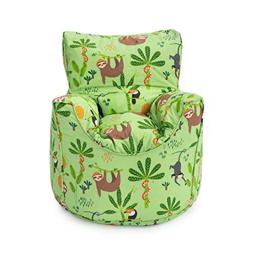 Ready Steady Bed Rainforest Kids Toddler Armchair | Comfy Children Furniture | Soft Child Safe Seat Playroom Sofa | Ergonomically Designed Bean Bag Chair
