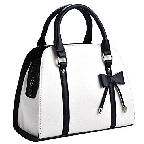 COOFIT Borse Donna, Moda Borse a Mano Elegante Donne Pelle Spalla Tracolla Tote Bag in PU Borsa Donna con Piccolo Fiocco