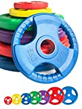 """Body Revolution Rubber Olympic Tri Grip Radial Weight Plates– Cast Iron Discs for 2"""" 50mm Bars (1.25kg - 25kg) (2.5kg pair)"""