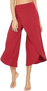 YOFIT Women's Elegant Palazzo Wide Leg Yoga Pants Loose Flared High Waist Pants
