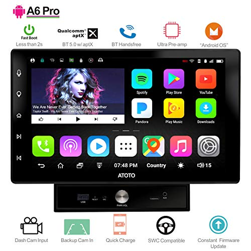 ATOTO A6 Android Car Navigation Stereo w/Dual Bluetooth & Quick Charge - Premium A6Y2721PB 2G/32G Universal Auto Entertainment Multimedia Radio,WiFi/BT Tethering Internet,Support 256G SD & More