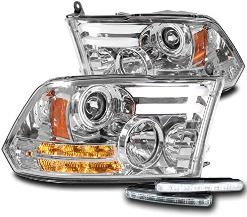 ZMAUTOPARTS LED Chrome Projector Headlights White w Selling and selling F DRL 6