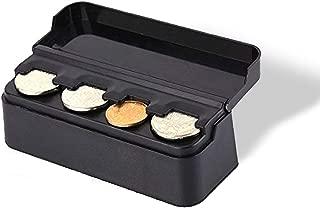 Vaygway Car Coin Change Holder- Black Mini Storage Coin Organizer-Universal Car Money Meter Dispenser