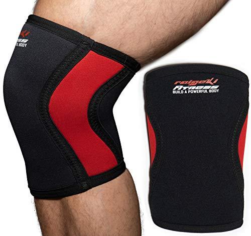 Raigeki Fitness Kniebandagen Neopren Paar Knee Sleeves (+ Trainingspläne) Kniestütze/Kniewärmer für Krafttraining, Crossfit, Bodybuilding & Kampfsport für Frauen und Männer (M)