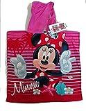 SETINO MIN-H-87 Disney Minnie Maus Kinder Bade-Poncho mit Kapuze 55 x 80cm