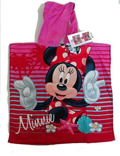 SETINO MIN-H-87 Poncho de bain à capuche Disney Minnie Mouse pour enfant 55 x 80 cm