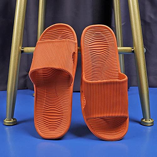 Yumanluo Chanclas Hombre Sandalias de Dedo Planas Flip Flops Playa Piscina Verano Zapatos de Playa Antideslizante para Adulto Men,Inicio Sandalias y Pantuflas Antideslizantes-Naranja_38-39