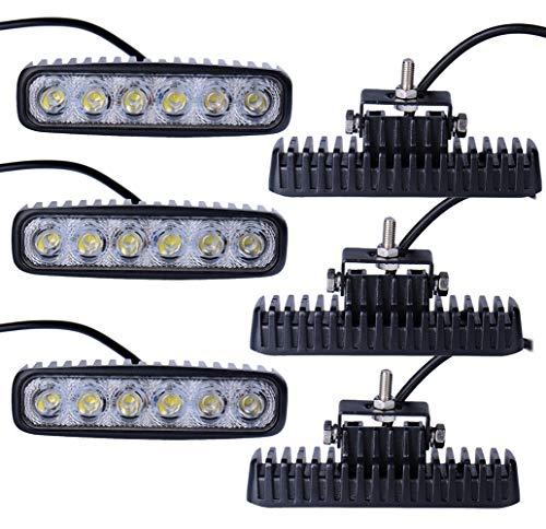 6x 18W LED lampe phare taillight pour les feux de travail du véhicule Imperméable IP67 - blanc froid