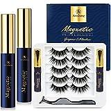 Arishine 5D Faux Mink Magnetic Eyelashes Handmade Luxurious Volume Fluffy Magnetic Eyelashes with Eyeliner, No Glue Needed 505