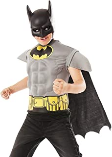 Imagine by Rubie's Batman Grey Muscle Chest Shirt, One Color, Small