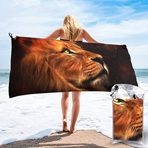 YUYUTE Badetuch, Lion Outdoors Microfiber Quick Dry Travel Towel,for Gym,Sports,Thin Lightweight,Shower Towels