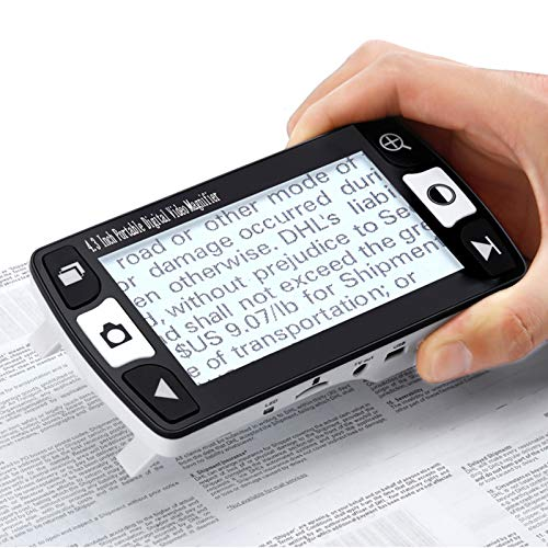Videoingranditore Digitale Portatile Lente di ingrandimento per ipovedenti da 4.3 Pollici, ausilio visivo per Lettura con Diverse modalità Colore Digitale Dispositivo