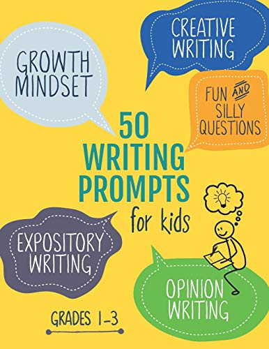 50 Writing Prompts for Kids: Growth Mindset Questions | Creative Writing | Opinion Writing | Expository Writing | Narrative Writing