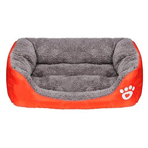 Yowablo Haustier Hund Katze Bett Welpe Kissen Haus weiche warme Hundezwinger Mat Blanket (58 * 41 * 14cm,2- Orange)