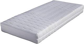 BONEX Funda de colchón para colchones de 140 x 200 cm – 16 – 18 cm de Alto – Doble Tela con Aloe Vera – Apto para alérgicos – Lavable a 60 Grados – Cremallera de 4 Lados