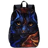 xiaoliqi Sac D'École Imprimé En 3D Kid Book Backpack Cool Cat Bookbag College High Boys Girls Fashion School Bag Camping En Plein Air Randonnée Voyage