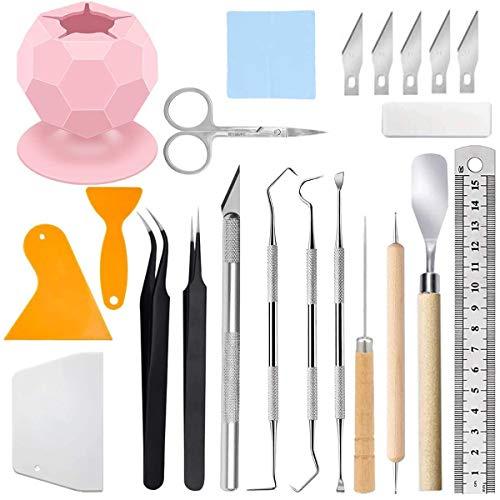 Acmerota Plotter Zubehör, Vinyl Unkrautbekämpfungswerkzeuge für 23er Pack Craft Vinyl Tools Bastelwerkzeug Set Kits Unkrautbekämpfungsset für Silhouetten/Kameen/Beschriftung/Schneiden/Spleißen