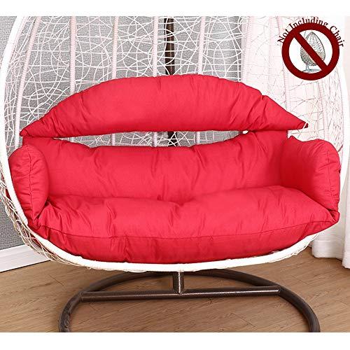 HYXQYZZ beste zitkussen, dubbel kussen, groot kussen, hangstoel met ergonomisch kussen, zeer zacht en comfortabel, overtrek wasbaar van linnen katoen