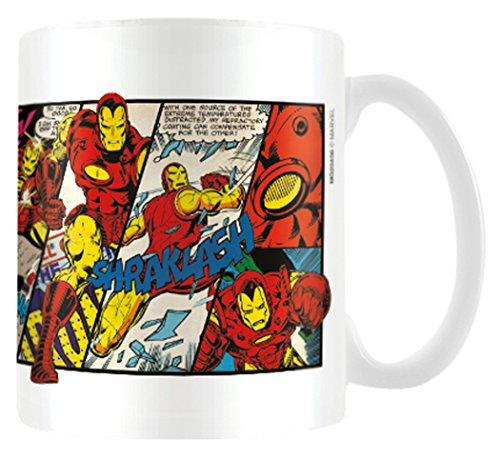 Pyramid International Marvel MG23436, 8 x 11,5 x 9,5 cm, Effetto retrò, Iron Man Pannelli-Tazza in Ceramica, Colore: Multicolore, 8x11.5x9.5 cm
