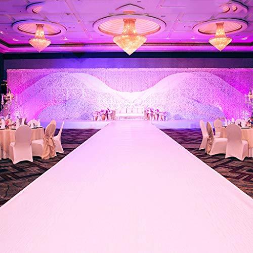 Tapijt wit – bruiloft runner – ceremonie Aisle – VIP-tapijt – kleur wit – 1 m x 10 m 1.5x10M Een