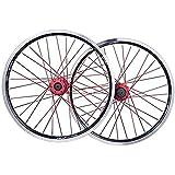 HJRD Jantes de vélo de Montagne Roue arrière, Paire de Roues de vélo de 26 Pouces à Double paroi Jante de VTT à Frein Rapide Frein à Disque en V 32 Trous 7-8-9-10 Vitesses