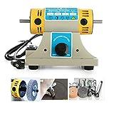 Kacsoo Bench Polisher Polishing Machine 220V, DIY Lathe Engraving Tool 350W Jewelry Rock Gem Polishing Buffer Machine 10000r/min Lathe Sander Grinder Buffing Motor Polisher Tool Kits