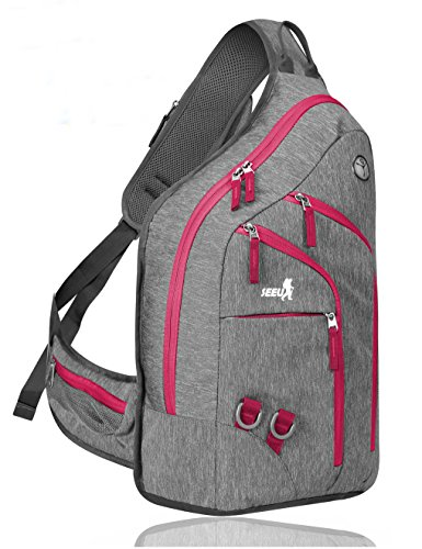 Plus Oversized Sling Backpack for Women, Durable Crossbody Backpack One Shoulder Backpack Daypack 28L