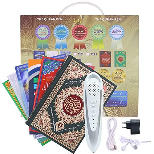 CG Koran Digital Pen Talking Reader - Lector digital con batería, lápiz de lectura de Corán y libro electrónico con 25 receptores multilingües