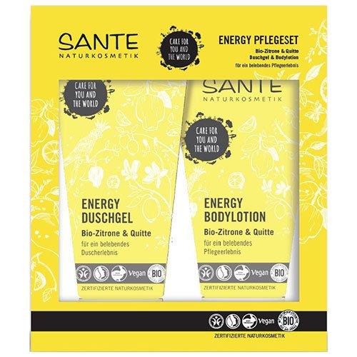 Sante: Energy Geschenkset - Bodylotion + Duschgel Bio-Zitrone & Quitte
