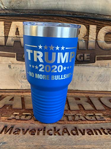 Trump 2020-30 oz Polar Camel Travel Mug l No More Bullshit pulverbeschichtet