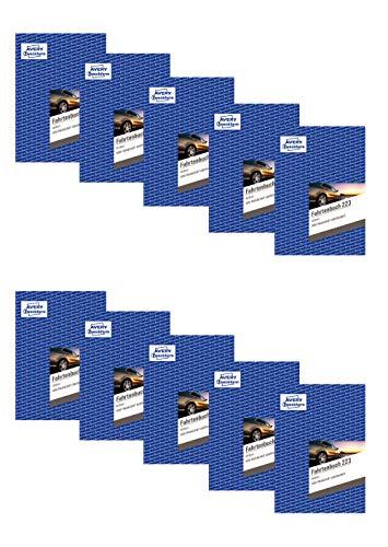 Avery Zweckform 223 Fahrtenbuch - A5, weiß (40 Blatt | PKW | DIN A5, 10 Stück)