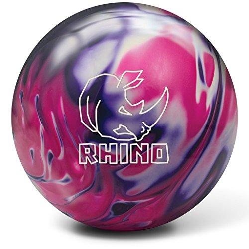 Brunswick Bowlingball RHINO div Farben und Größen (Purple/Pink/White Pearl, 12 Lbs)