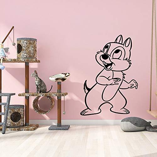 JXMN 42x58cmAnpassbare Farbe und Name DIY kreative Eichhörnchen Wandaufkleber Dekoration Dekoration wasserdichte Dekoration Kinderzimmer Wandaufkleber