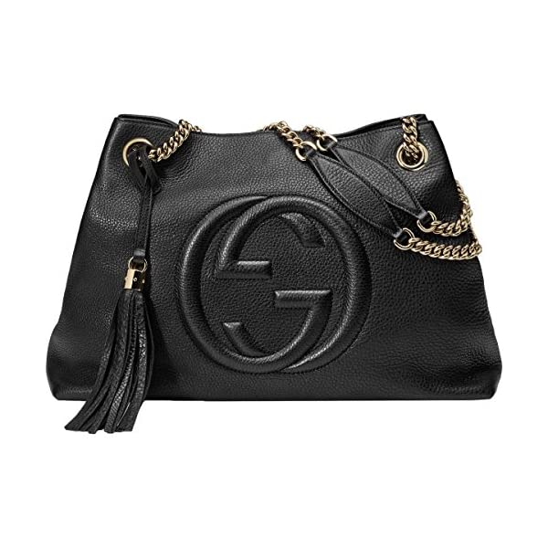 Fashion Shopping Gucci Soho Large Leather Chain Shoulder Handbag Black BHFO 5480