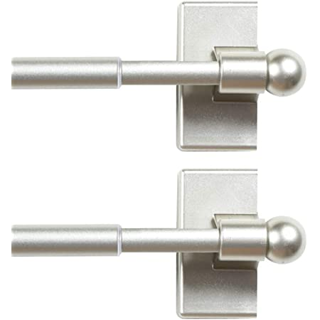 Amazon Com H Versailtex Magnetic Curtain Rods For Metal Doors Top And Bottom Set Of 2 Multi Use Adjustable Appliances For Iron And Steel Place Petite Ball Ends 16 To 28 Inch 1 2 Inch Diameter