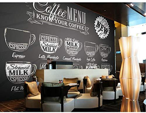 Eufjsdhf Behang 3D bar cafe KTV restaurant sofa TV achtergrond muur glas tafel zwart individueel muur foto 250 x 175 cm.