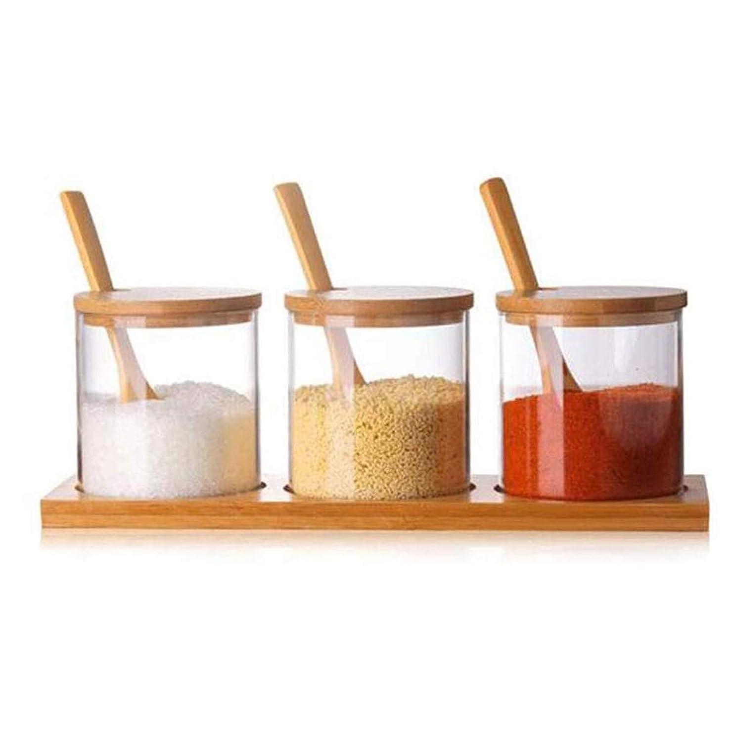 迷信色知り合い多目的世帯を含む透明ボックスは、国内のキッチン調理上部と下部の木製のスプーンで適切な一緒にスパイススパイス