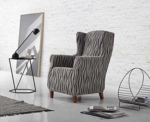 Zebra Textil Ohrensessel-husse, Grau, 1